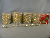 "+/-125 pc. mini 1.25"" glass bells and 1"" round Christmas clear Tree ornaments"
