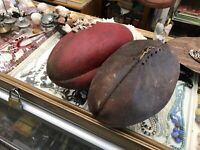 X2 Vintage AFL Australian Sherrin Leather Football 60s 70s & 1990's Aussie Rules