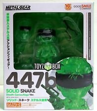 """In STOCK GSC """"Stealth Camouflage Snake"""" Metal Gear Nendoroid 447b Action Figure"""