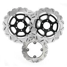 Full Set Brake Disc Rotors For Kawasaki ZX6R 636 ZX9R Ninja 98-08 Z 750 1000