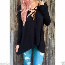 Polyester Long Sleeve Petite Tops & Blouses for Women
