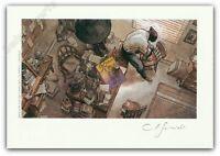 Ex-libris Guarnido Blacksad Le bureau d'enquête 150ex signé 14,5x21 cm