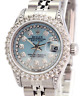 Womens Rolex Datejust 26mm Blue MOP  Diamond Dial Diamond Bezel 1.90CTW-Quickset