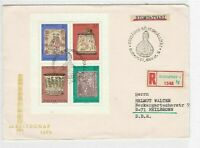 hungary budapest registered stamps sheet cover  ref 10465