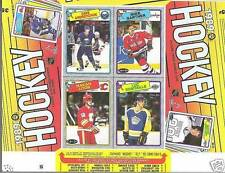 1988-89 OPC Box Proof Box Bottom Panel, Robitaille, Loob, Gretzky