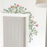 Removable Green Leaf Flower Home Room Art Decor DIY Wall Sticker Decal Charm
