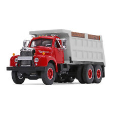 1st Gear 1:64 Mack B61 Dump truck - Red/Gray - Same scale as DCP
