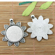 Mixed flower design round cabochon setting INNER SIZE:25mm EF2550/EF2551 18pcs