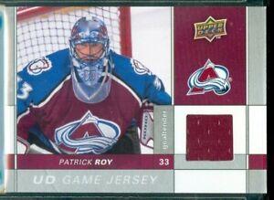 Upper Deck 2009/10 Hockey ( GJ-PR ) Patrick Roy  Game Jersey Card