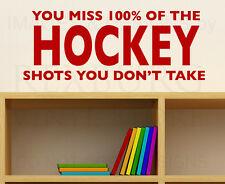 Wall Decal Art Sticker Quote Vinyl Removable Mural Graphic Hockey Boy's Room S01