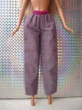 Vintage Barbie y Sindy muñeca ropa-Púrpura Pantalones