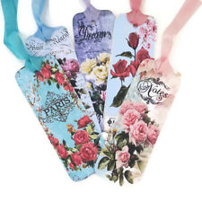 NEW Bookmarks Roses Flower-Dream-Live- Laugh- Favour-Book Lover- Diary-Teacher