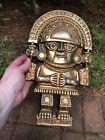 Vintage Copyright MCMLXX SYROCO Aztec Gold Color Gnome, Emperor Wall Decor. USA
