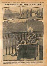 Alexeï Broussilov/Aleksei Alekseevich Brusilov Offensive Kiev Saratow  1916 WWI