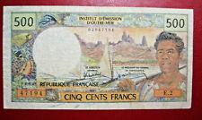 Nouméa. Institut d'émission d'Outre-Mer.  Billet de 500 Francs. ND