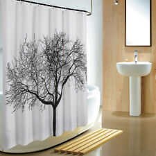 Big tree mildew thick waterproof fabric shower curtain home decoration mat set