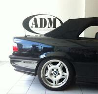 BMW E36 Cabrio klare Heckscheibe Verdeck Cabrioheckscheibe incl. Einbauset NEU