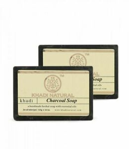 Khadi Natural Herbal Charcoal Soap For helps clearing skin blemish 25gm packof 2