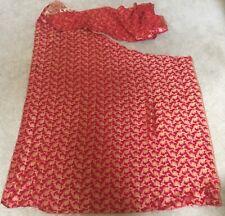Silk Brocade Jamawar Sari Fabric Remnant Arts Crafts Sewing Junk Journal