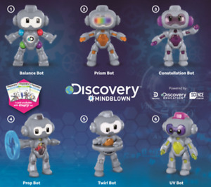 2020 McDonald's Happy Meal Toys Discovery Mind Blown Robots Pick Your Favorite!