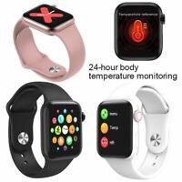 Full Touchscreen Smart Watch Temperaturüberwachung Armbanduhr für Männer Frauen