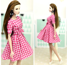 Handmade Pink Evening Dress Clothes For 26-30cm changing dress Doll
