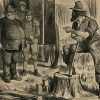 Australian Colonist vs. England political cartoon 1864 U.S. old print