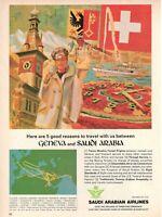 1977 Original Advertising' Advertising Saudi Arabian Airlines Saudia Geneve