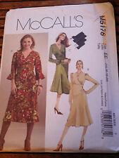 McCall Pattern 5178 Wrap Bodice A Line Flounce Ruffle Draped Dress  14-16-18-20