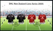 NEW ZEALAND 2005 S/A FDC DHL LIONS RUGBY TOUR SHAPES (ID:F2011)