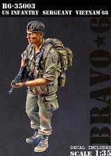 BRAVO-6 35003 U.S. Infantry Sergeant, Vietnam '68 1/35 RESIN FIG.