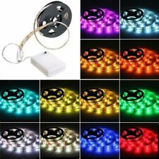 50cm-2m Battery Operated 5050 RGB LED Strip Light Waterproof Craft Hobby Light