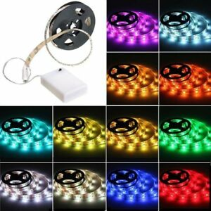 1.64-6.56FT Waterproof 5050 SMD RGB 5V Battery Powered Led Flexible Light Strip