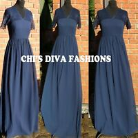NEW EX ASOS Lace Insert Chiffon Maxi Dress Sizes UK 8-18