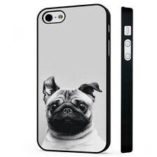 Pug Dog Cute Big Ears BLACK PHONE CASE COVER fits iPHONE
