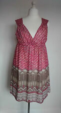 Polyester V-Neck Geometric Dresses Midi