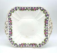 Vintage shelley 1920 Art Deco porcelain sandwich/cake plate, Juno pattern, VGC