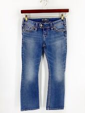 Silver Jeans Womens Size 6 Petite Blue Denim Embroidered Short