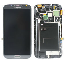 100%Samsung Galaxy Note 2 N7100 Black LCD Screen/Touch Digitizer Frame