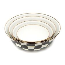 MACKENZIE-CHILDS Courtly Check Enamel Everyday Bowls Set Of 4 MSRP $280