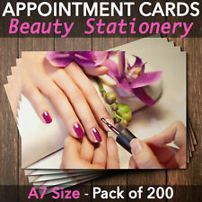 Appointment Cards For Beauty Salons, Therapists, Nail Technicians Pack of 200