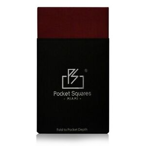 Pre Folded Men's Pocket Square Satin Hankie Hankerchief Presidential for Suits