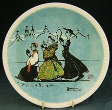 Rare 20th. Norman Rockwell limited edition plate