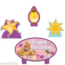 TANGLED CAKE CANDLE SET (4pc) ~Birthday Party Supplies Disney Decoration Cupcake