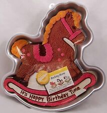 Wilton Rocking Horse Pony or Lamb Cake Pan Happy Birthday Baby Shower #2105-2388