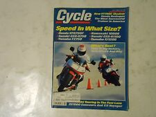 JULY 1986 CYCLE MAGAZINE,HONDA VFR750F,KAWA 1000R,SUZUKI GSX-R750,GSX-R11000,YAM
