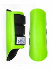Davis Horse Boots Tendon Splint Jumping Classic Protection Lime Green Pony/Small