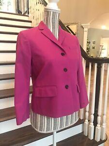 Ann Taylor Petite Women's Blazer Cropped 3 Button Front 3/4 Sleeve 8P