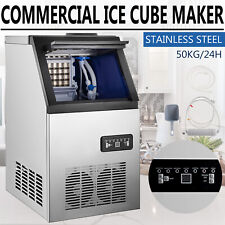 110Lb Built-in Commercial Ice Maker Stainless Steel Restaurant Ice Cube Machine