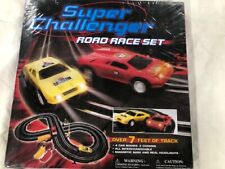 Super Challenger Road Race Set New In Box Slot Racing Real Headlights